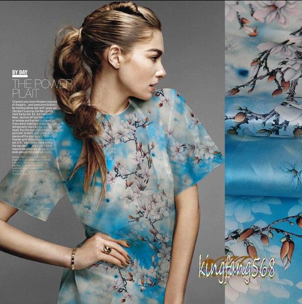 Diseñador 100% seda de mora natural pura vestido de Novia blanco de ...