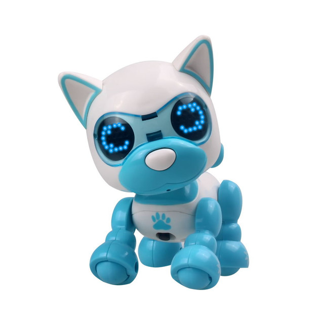 Robot toy dog UInteractive Smart Puppy Robotic Dog LED Eyes Sound Recording Sing Sleep Cute action figure Education D301212