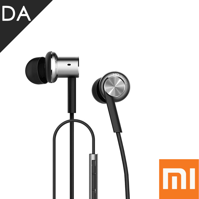 Original Xiaomi Hybrid Earphone 2 Units In-Ear HiFi Earphone Xiaomi Mii 1more Piston Earphones with Mic Remote Xiaomi 1 More Pod