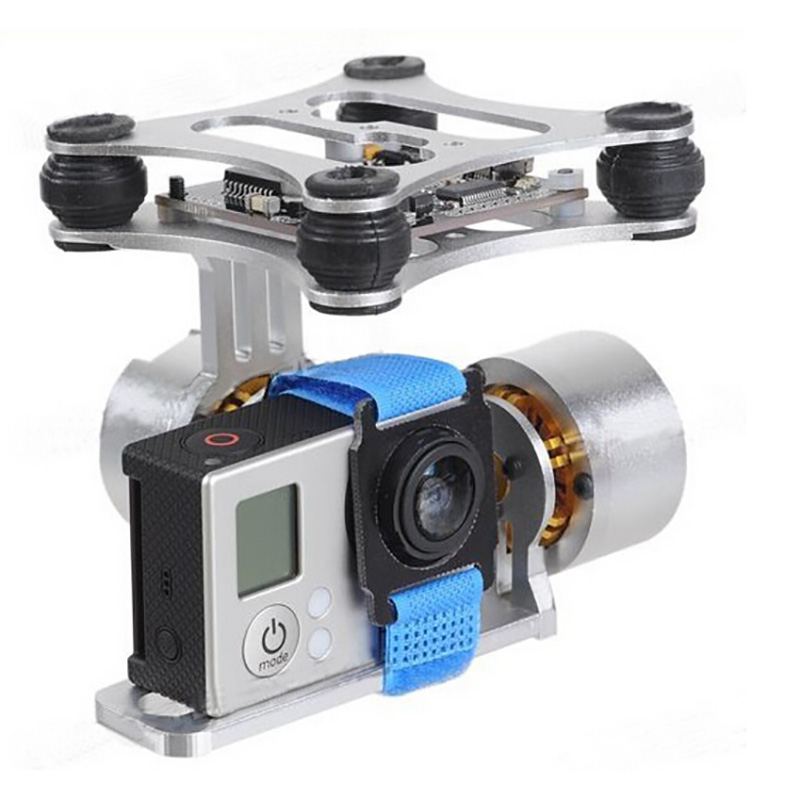 Go Pro 2 Axis CNC Brushless Gimbal for Gopro Hero 3 3+ Camera Mount with Motor Controller for DJI Phantom Quadcopter FPV PTZ upgrade cnc brushless 2 axis gimbal camera mount controller for gopro 3 3 4 diy fpv rc quadcopter plug