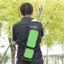 цена на Archery Bow Quiver Green Color Arrow Holder Arrows Bow Bag For Hunting Outdoor Archery Shooting Arrows