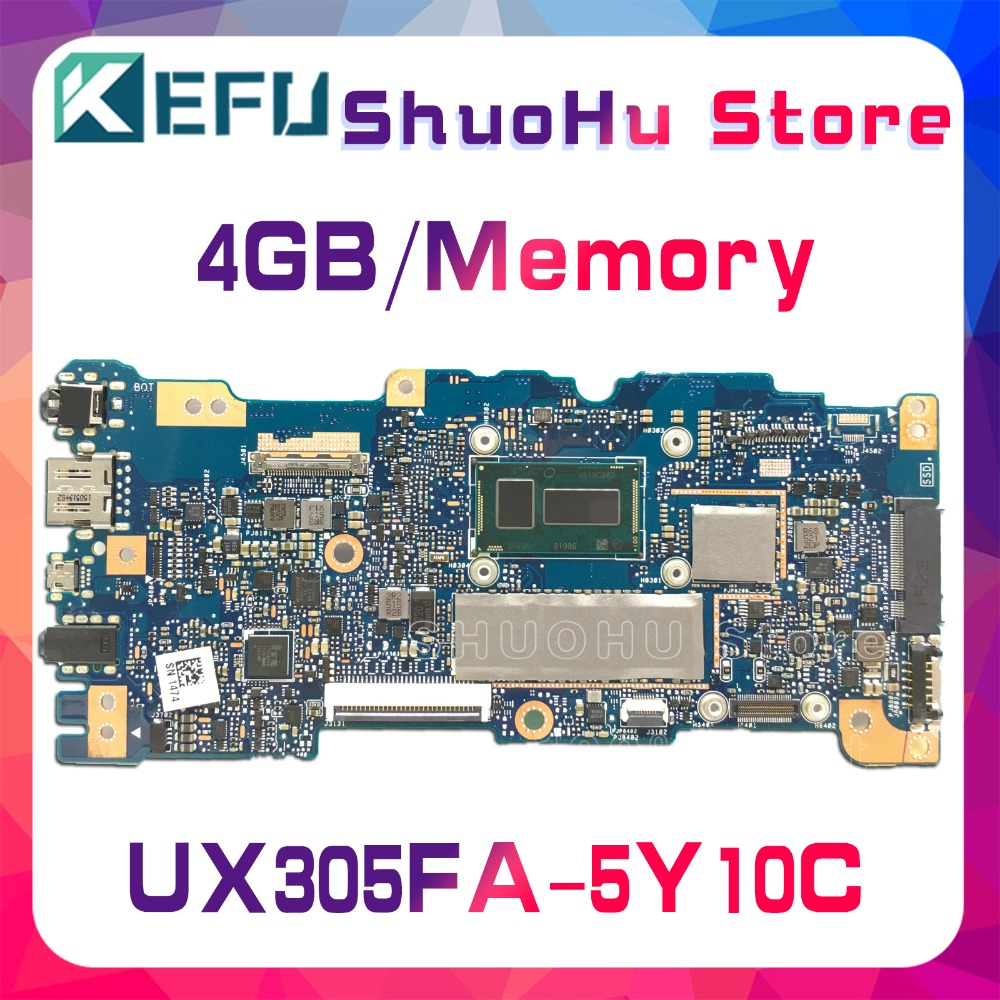 KEFU For ASUS UX305FA UX305F 4GB/Memory laptop motherboard tested 100% work original mainboard wholesale new fashion trendy 925 sterling silver zircon natural gemstone crystal green diopside pendant drop earrings for women