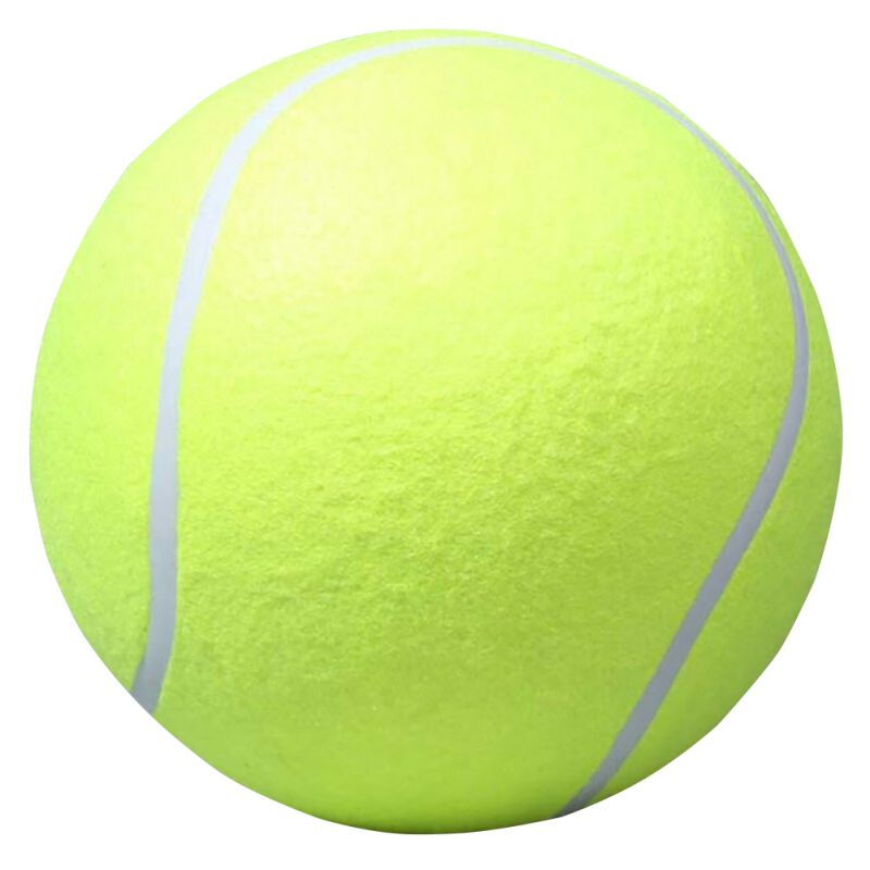 24CM Giant Tennis Ball Pet Dog Chew Toy Big Inflatable Tennis Ball Signature Mega Jumbo Dog Toy Outdoor Cricket PetsToys