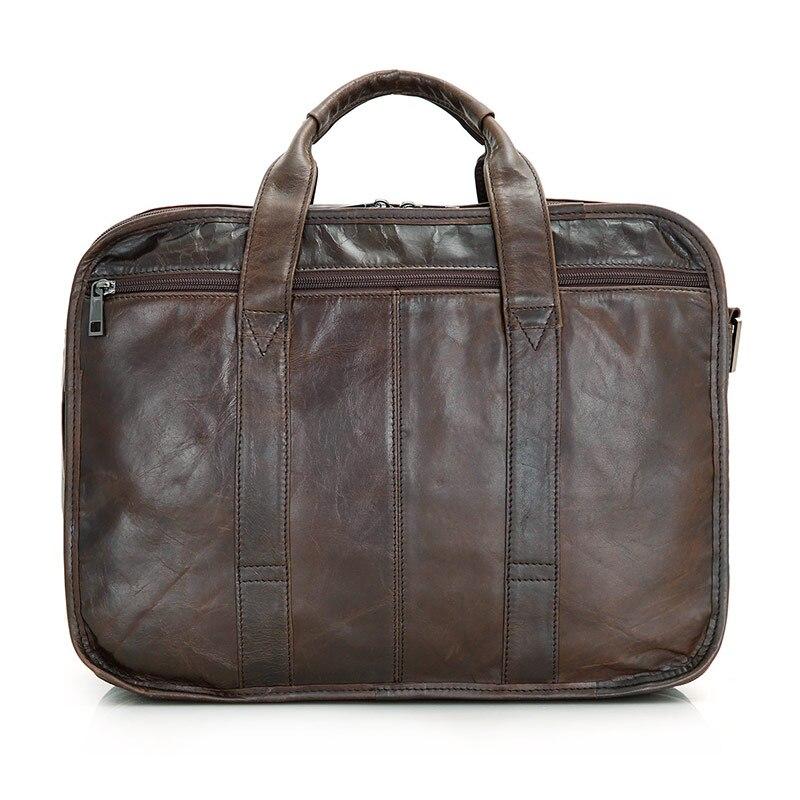 Leder Drei Multifunktionale Fach Einzigartiges Vintage Design Aktentasche Genuine Jmd Herren Umhängetasche Brown Handtasche 7093c I0ZRwAq4
