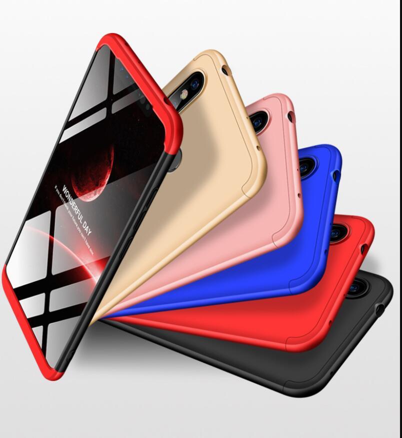 100pcs lot Shield 360 Full protect PC hard Cover case For Xiaomi redmi note 7 6