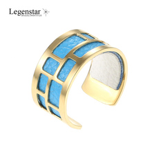 Legenstar Gold Stainless Steel Rings For Women And Men Creative Reversible Leather Ring Open Resizable Bague Femme Anillos 2019