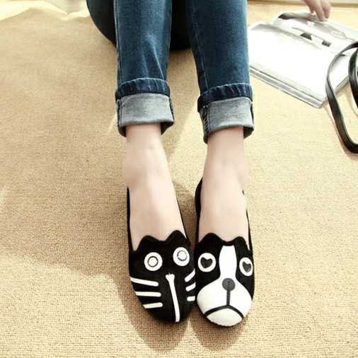 Free Shipping 2019 Womens shoes personality the cat dog shoes velvet flat comfortable flats shoes fgb78Free Shipping 2019 Womens shoes personality the cat dog shoes velvet flat comfortable flats shoes fgb78