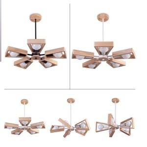 Image 1 - Modern LED Chandelier Creative Simple 3/6/8 Heads Solid Wood  Lamp Ceiling chandelier Lighting Home Lighting Bedroom Dining Room
