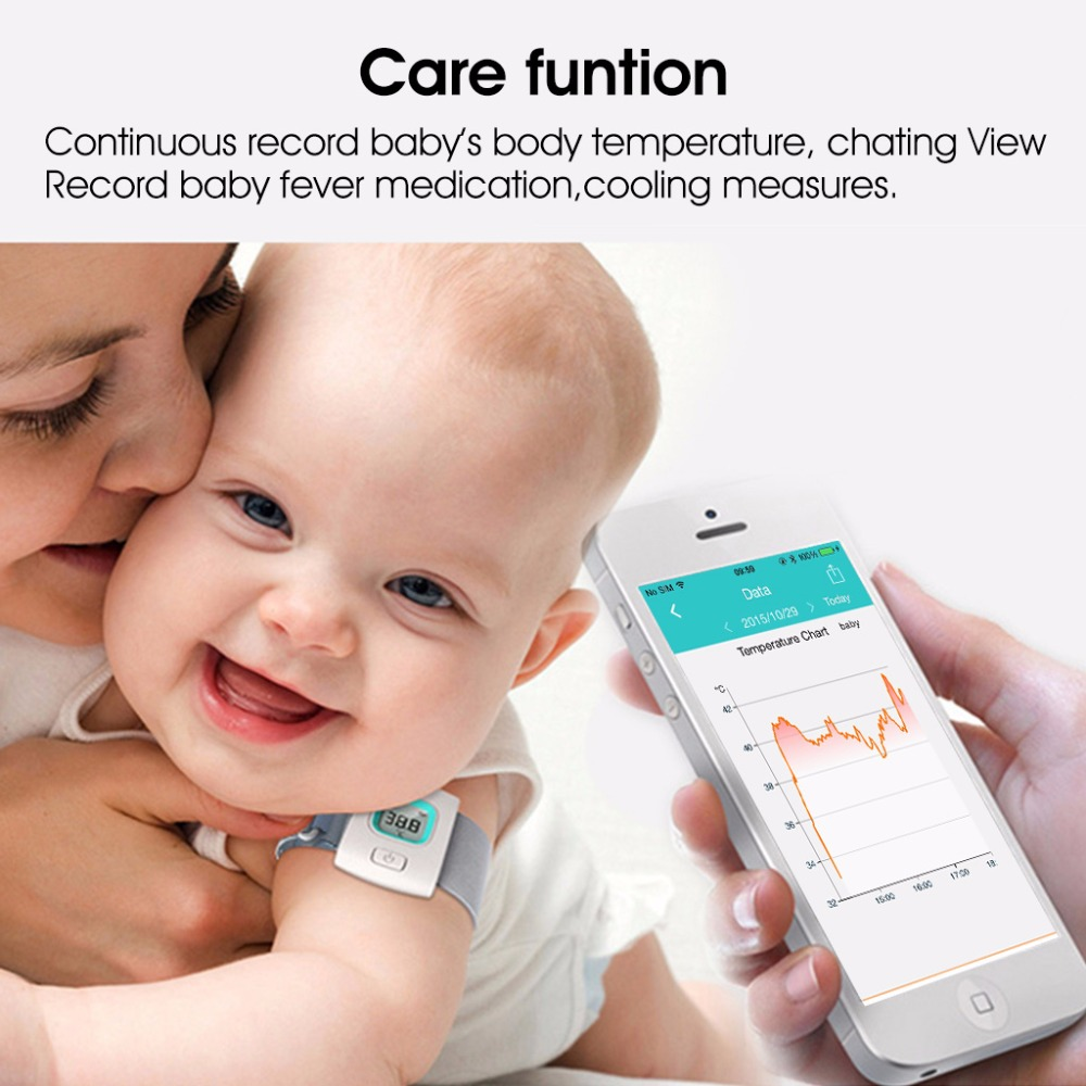 Fever Smart Thermometer Bluetooth Baby Wearable Thermometer