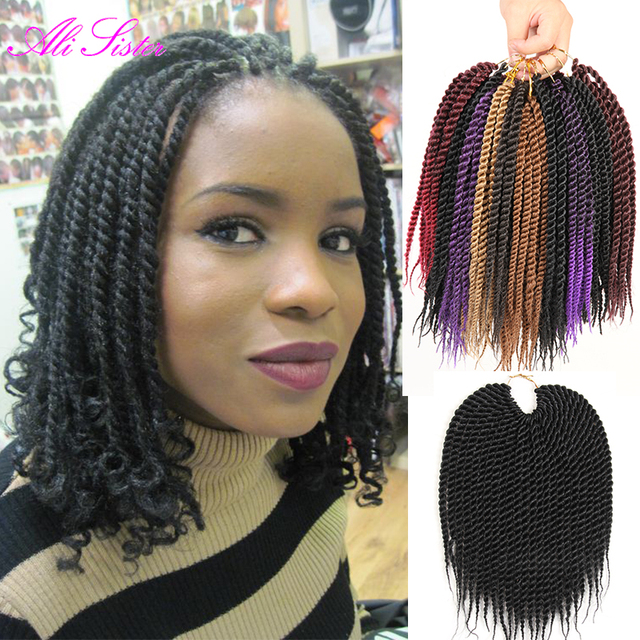 Ombre Braiding Hair Senegalese Twist Hair Crochet Braids Havana