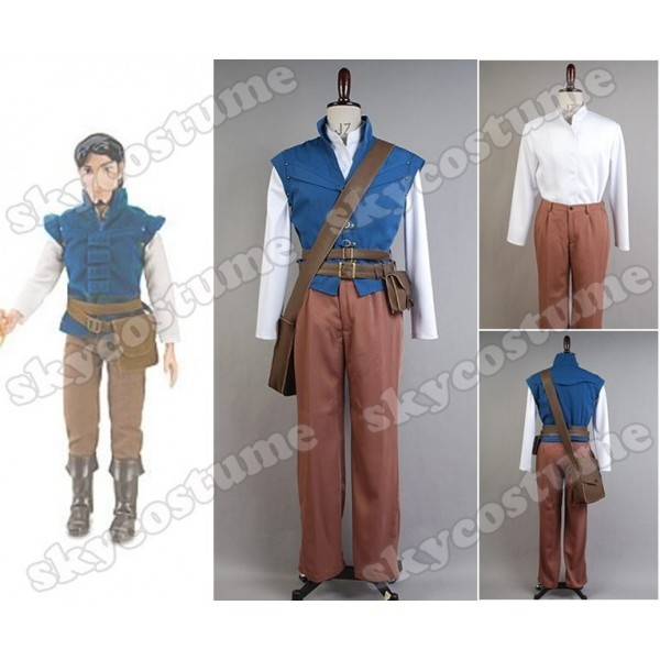 Tangled Prince Flynn Rider Eugene Fitzherbert Cosplay Costume Outfit Adult Halloween Carnival Costumes