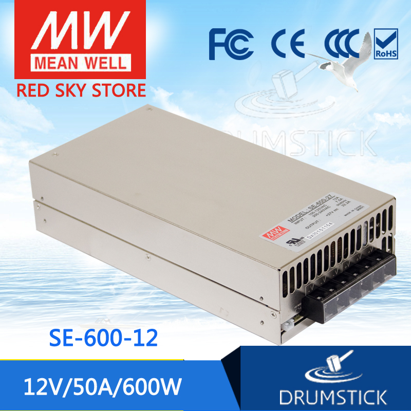 все цены на (Only 11.11)MEAN WELL SE-600-12 (1Pcs) 12V 50A meanwell SE-600 600W Single Output Power Supply онлайн