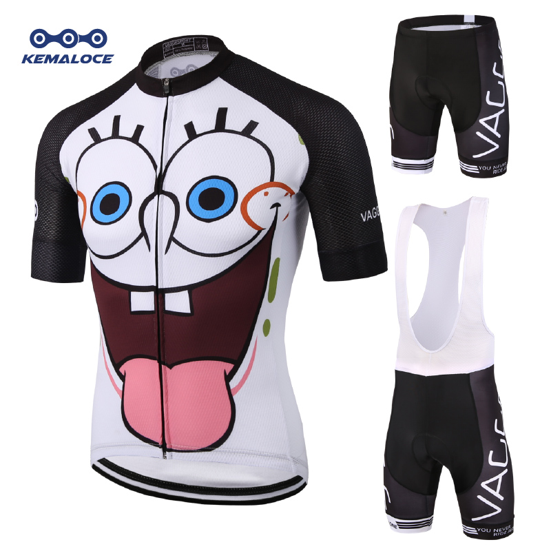 Novelty Sublimation Reflective Cycling Wear High Visibility Funny Cheap Cycling Set Uv Protection Race White Sport Bike Clothes