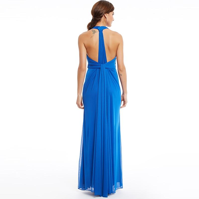Tanpell halter lange abendkleider dunkle royal blue sleeveless ...