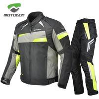 Motoboy Мотоцикл Велосипед Полиэстер 600D Оксфорд езда Touring 3 слоя водонепроницаемый теплая куртка и брюки наборы сезонная одежда CE протекторы