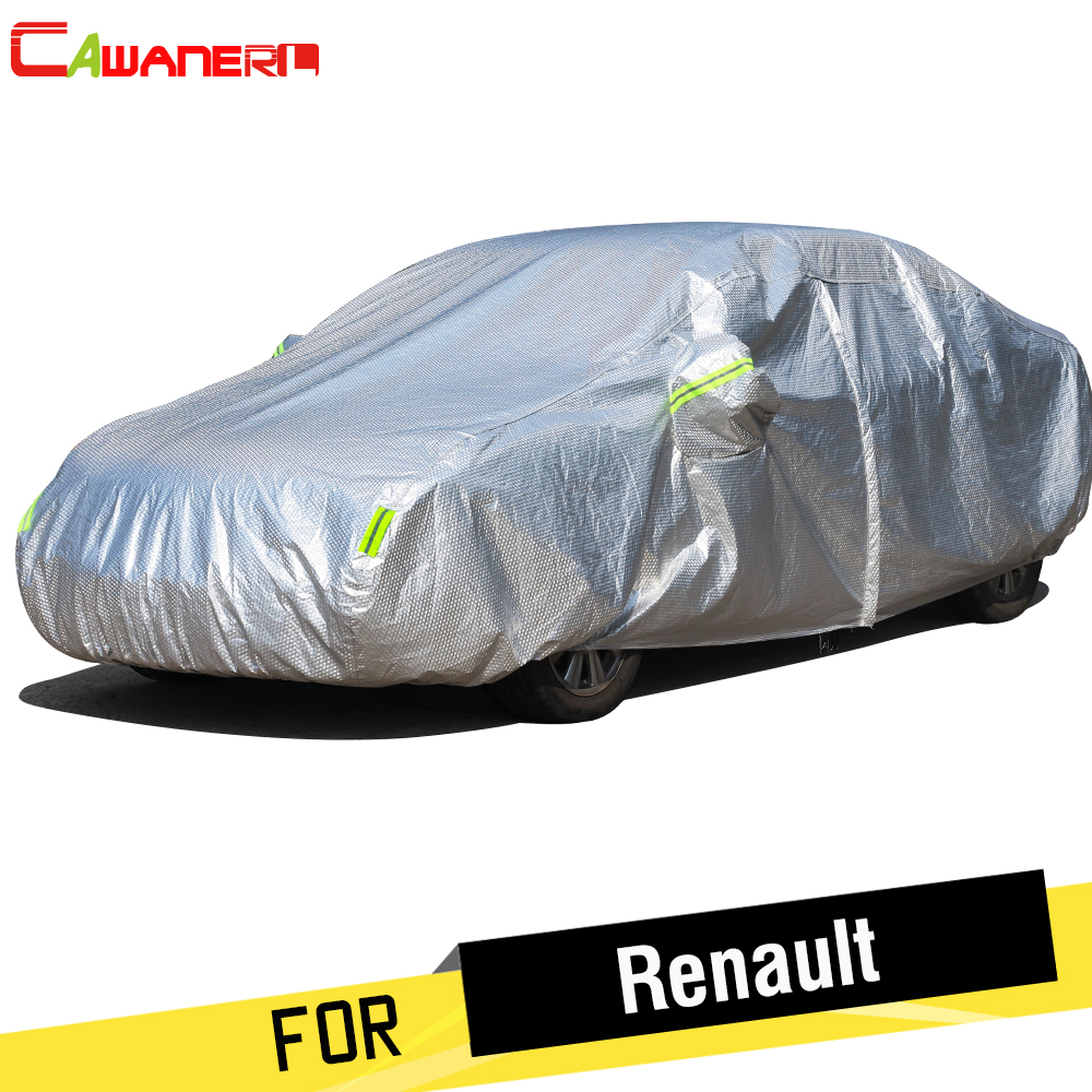 Cawanerl For Renault Megane Sandero Duster Thicken Cotton Car Cover Waterproof Outdoor Sun Snow Rain Hail Resistant Auto Cover