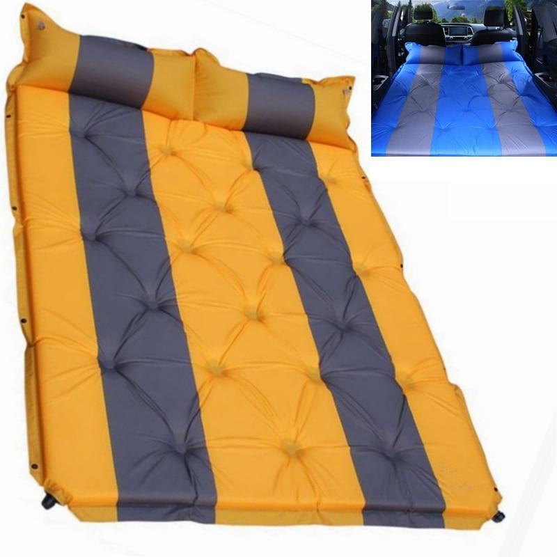 Outdoor Camping Inflatable Tent Mat Mummy Pads With Pillow Air Mattress Utralight camping mat car travel