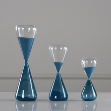 New Hourglass Creative Blue Sand Clock Sandglass 10/30/60 Minutes Hourglass Timer Home Decorative Arts Gifts Toy For Kids недорого
