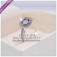 2016 Fall S925 Sterling Silver Ring Vintage Allure With Clear CZ Ring Wedding Ring European women jewelry gifts