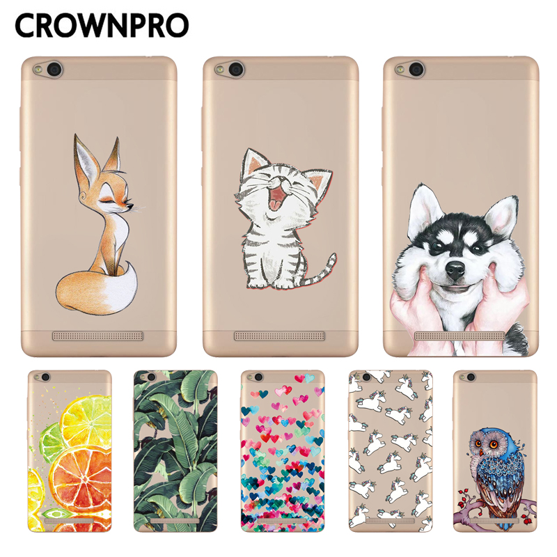 CROWNPRO Soft Silicon Case For Xiaomi Redmi 3 Colorful Print Cover Back For Xiaomi Redmi 3 Case TPU 5.0