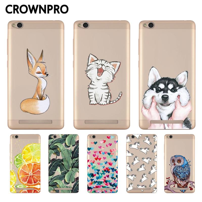 CROWNPRO Soft Silicon Case For Xiaomi Redmi 3 Colorful Print Cover Back For Xiaomi Redmi 3 Case TPU 5.0