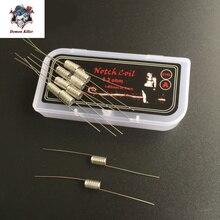 E-XY Notch coil steam tech нагревательный провод готовый Предварительно построенные катушки Wismec Теорема для RDA RBA Atomizer