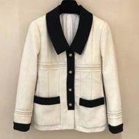 Модное зимнее пальто для женщин с длинным рукавом прямое шерстяное пальто с отложным воротником модная женская осенняя куртка