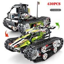 430 шт. пульт дистанционного управления внедорожный трек двигатель автомобиля строительные блоки совместимый бренд Technic электрический RC автомобиль Кирпичи Детские игрушки