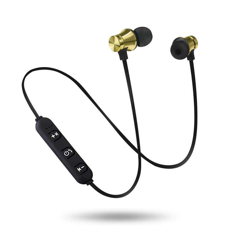 Metalowe sportowe słuchawki bezprzewodowe słuchawki Bluetooth odporny na pot słuchawki magnetyczne słuchawki stereofoniczny zestaw słuchawkowy do telefonu komórkowego