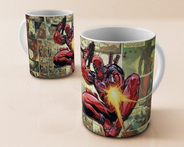 deadpool mug comic coffee mugs travel mugs cups ceramic white mug home decal porcelain tea cups drink water milk beer