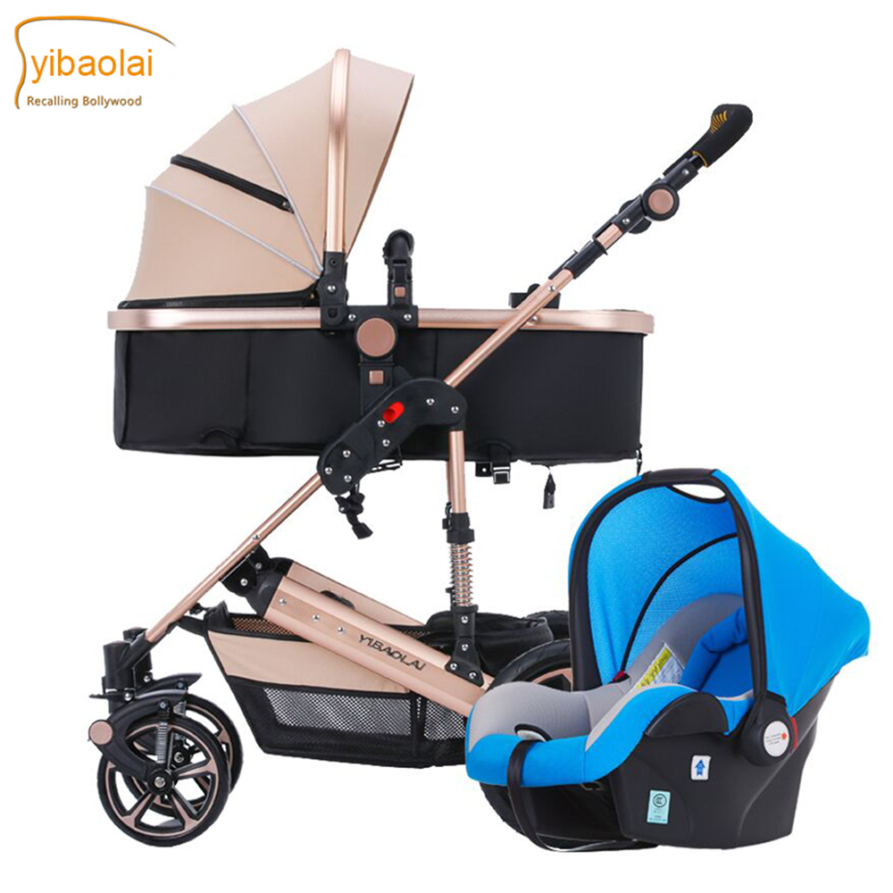 2017 baby strollers brand baby 2 in1 pram baby carriage many colors for choice certified baby products baby buggy stroller with pad 600d oxford fabric kids pram and strollers 4 colors infant carriage on sale