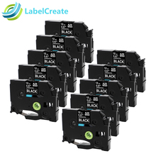 Airmall 10 Pack Label Tapes White on Black Compatible with Brother TZ TZe 335 TZe-335 P Touch, 0.47 Inch (12mm) x 8m (26.2ft)