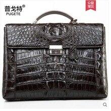 pugete 2019 Таиланд крокодиловая кожа деловой человек сумка портфель мужская кожаная сумка аутентичные одно плечо сумка мужчины портфель