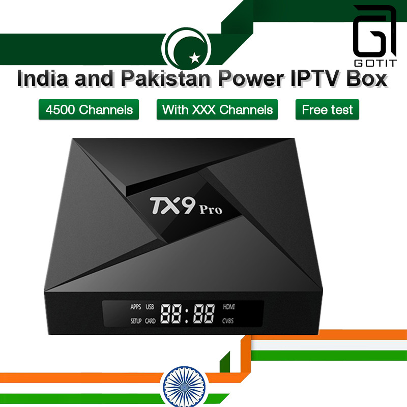 GOTiT India And Pakistan IPTV Box TX9 Pro 3G/32G Android TV Box + 4500  Lives Arabic Germany With XXX