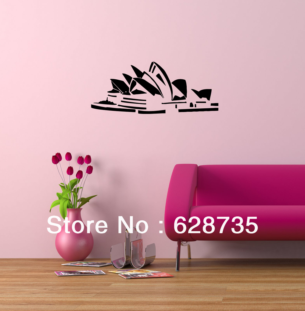 Sydney opera house sticker australia world famous architecture sydney opera house sticker australia world famous architecture home decoration vinyl art mural wall decals free shipping in wall stickers from home garden amipublicfo Gallery