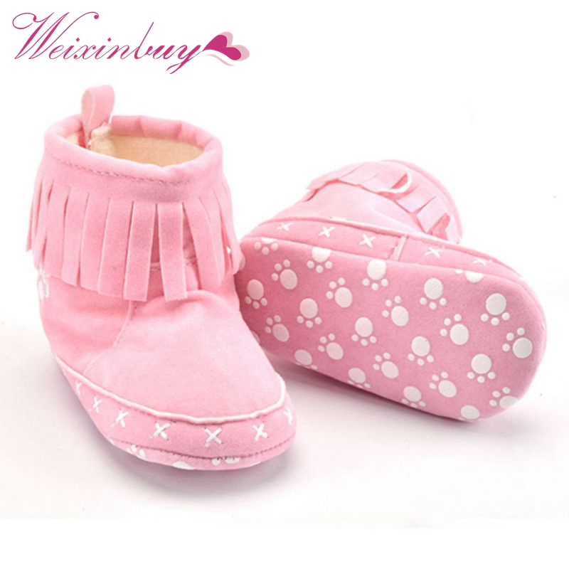 Winter Toddler Snow Boots Cute Infant Shoes Baby Boy Girls