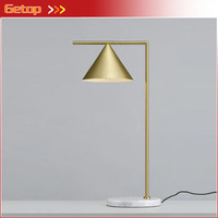 Post modern Minimalist Desk Lamp Iron Desk Light for Bedroom Bedside Lamp Study Office Gold Reading Lamp Decorative Lights