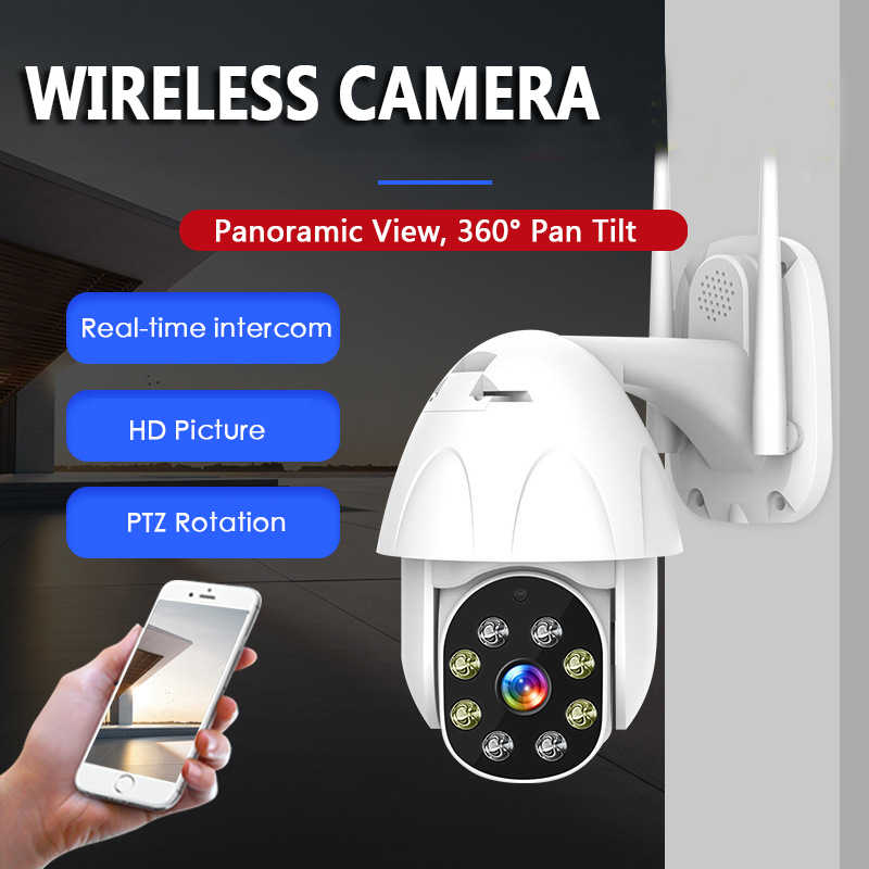 IP Kamera Wifi 2MP 1080 P Nirkabel Speed Dome CCTV IR ONVIF Kamera Keamanan Outdoor Pengawasan 5X Digital Zoom eksterior
