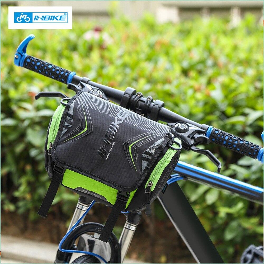 INBIKE Waterproof Bike Front Bicycle Bag Handlebar Multi-purpose Pocket Large Capacity Backpack Tube Cycling Bag With Rain Cover
