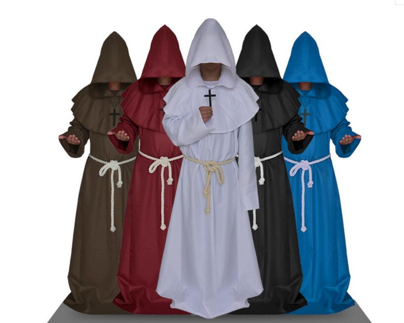 Medieval Monks Cosplay Costumes Shaman Switch Priest Robes ...
