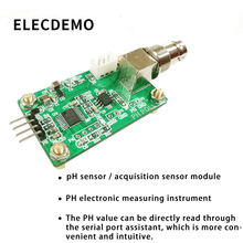 лучшая цена PH value detection acquisition sensor module pH sensor water quality detection control serial output