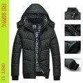 Новая зимняя человек пальто известный бренд хлопка мягкой куртка костюм утолщение водонепроницаемая куртка большой размер