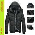 Novo homem casaco de inverno famosa marca de algodão-acolchoado parka terno espessamento jaqueta impermeável tamanho grande