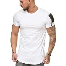 MarKyi 2019 summer hip hop clothing zipper men tshirt cotton short sleeve o-neck t shirt own design