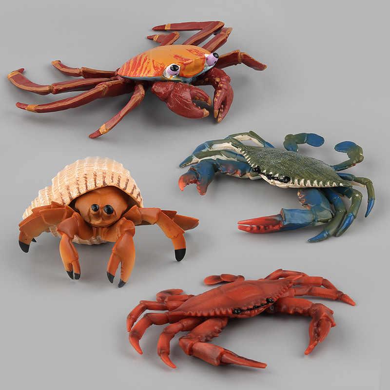 Mundo Animal Marinho oceano Sea Life Simulação Figura Polvo Mar Tartaruga Caranguejo Peixe Coleção Modelo Boneca de Presente Para Crianças Brinquedos