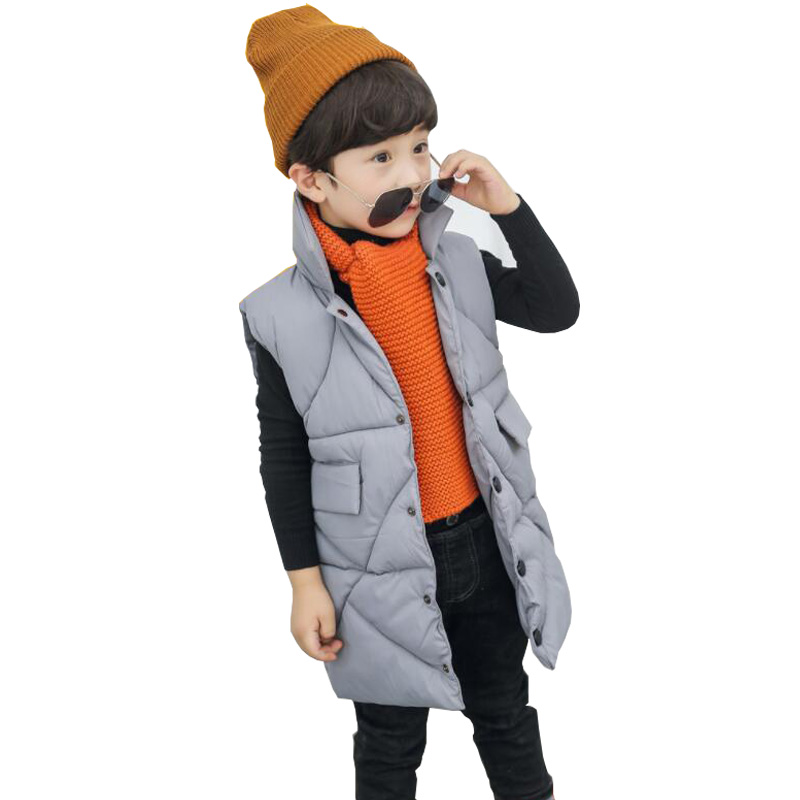 Children winter Long waistcoat boy Outerwear Coats 2018 New  girls vest infant baby vest sleeveless kids vest windbreaker jacketChildren winter Long waistcoat boy Outerwear Coats 2018 New  girls vest infant baby vest sleeveless kids vest windbreaker jacket