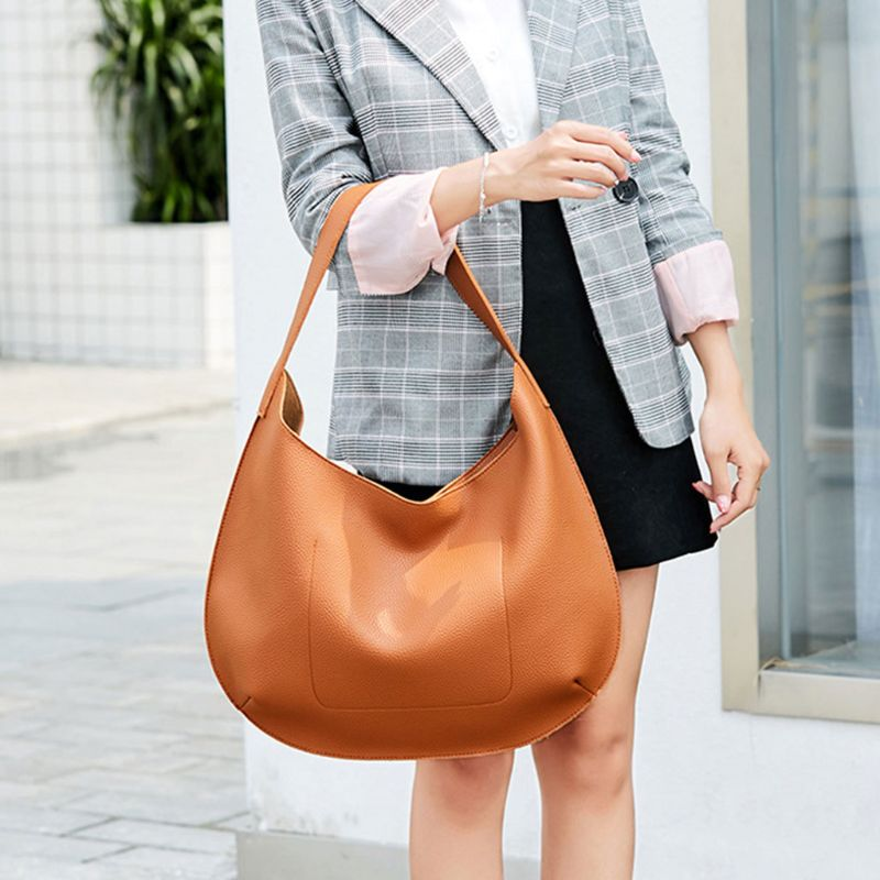 High Quality New Fashion Women Handbag Shoulder Bags Tote Purse Messenger Hobo Satchel Bags 2019 New in Shoulder Bags from Luggage Bags