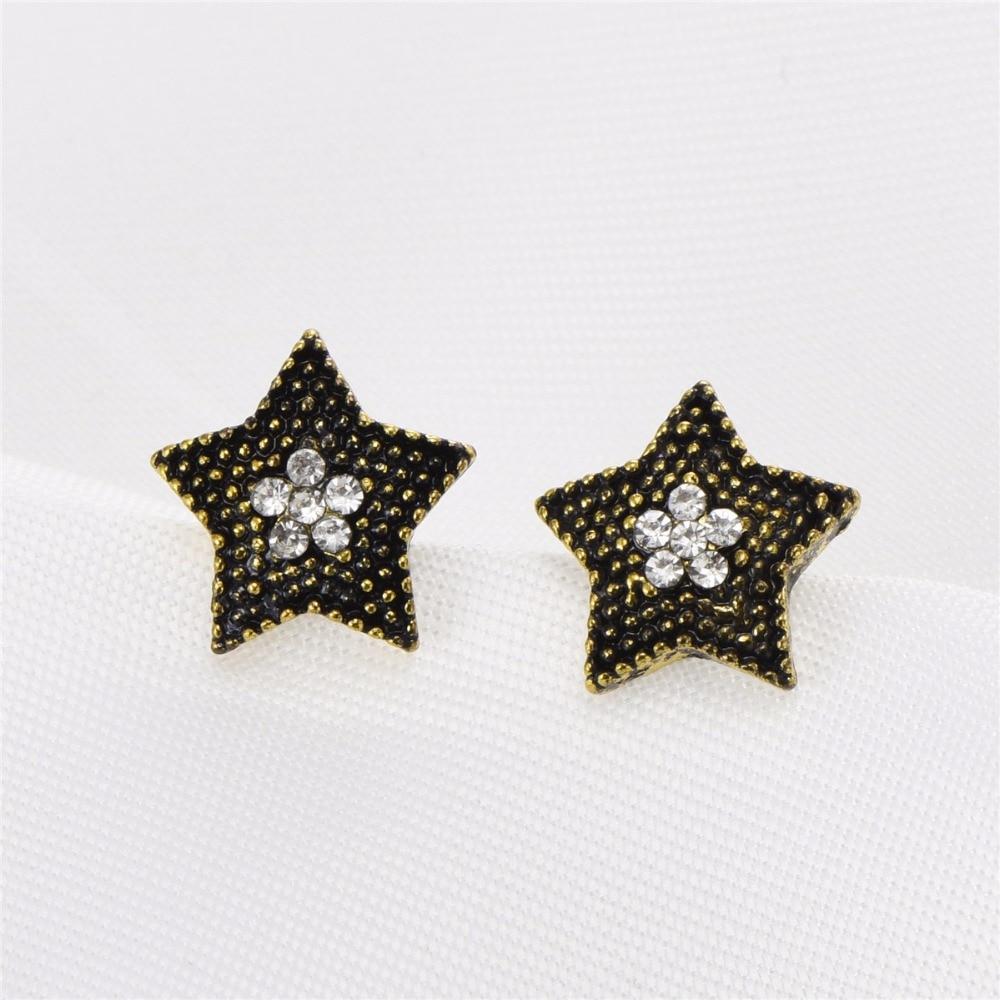 cheap jewelry promotion mask earrings face jewelry star design vintage bronze plated earrings 84234 gold earrings for women