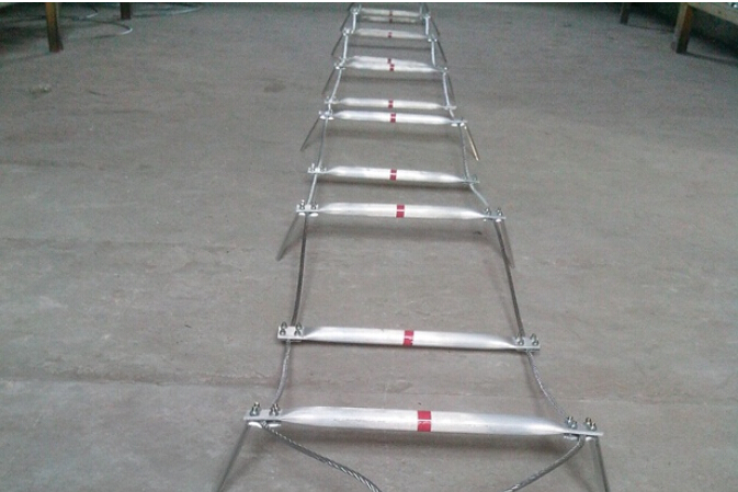 10M Steel Wire Rope Ladder Aluminum Life Saving Folding Ladder ...