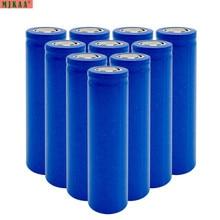 цена на MJKAA 18650 lithium battery 3.7v  ion 1800mAh rechargeable    flat top  head for vape